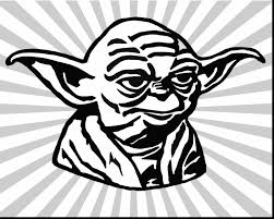 Small Picture surprising yoda face coloring page with yoda coloring pages