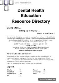 Dental Health Education Resource Directory