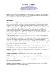 Download Videographer Resume Haadyaooverbayresort Com