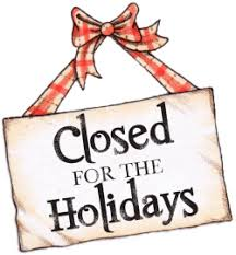 Image result for Holidays closed clip art