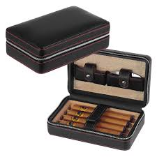 travel leather cigar case