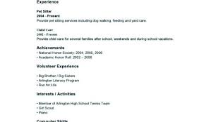 Teenager Resume Extraordinary Sample Resume For A Teenager With No Work Experience And Sample