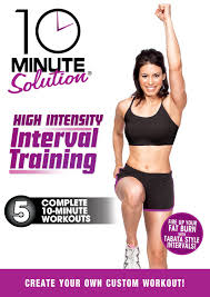 10 minute solution has moved into the hiit arena with their high intensity interval believe it or not i own a ton of these dvds