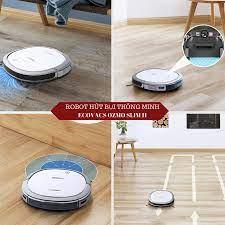 Robot hút bụi và lau Ecovacs Ozmo 11 Slim màu trắng -- Điện 110V