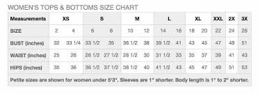Sun Size Chart Sizing Charts For Sun Protection Clothing And Sun Hats