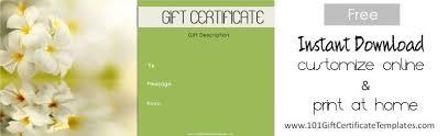 Spa Gift Certificates 101 Gift Certificate Templates Gotta Craft