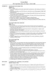 Managing Director Resume Managing Director Resume Samples Velvet Jobs 1