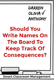 Should You Write Names On The Board To Keep Track Of