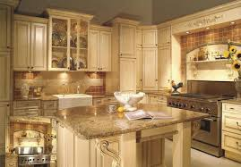 Kitchen Design With White Cabinets Beauteous Inspiring Painting Kitchen Cabinets Antique White And Kitchen Design
