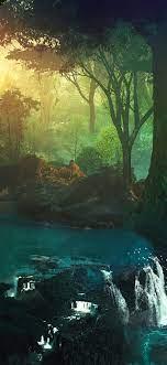 1125x2436 Lake Tropical Jungle Water ...