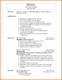 General Resume Outline 10 Summary Of Teaching Experience Examples Resume Samples