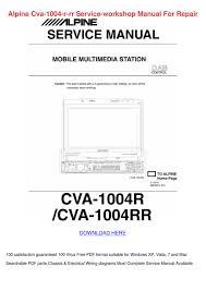 alpine cva 1004 r rr service workshop manual by loretta holquin issuu Home Stereo System Wiring Diagram at Alpine Cva 1004 Wiring Diagram