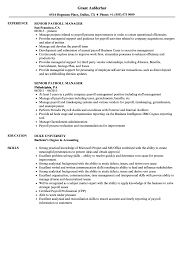 Payroll Manager Resume Sample Senior Payroll Manager Resume Samples Velvet Jobs