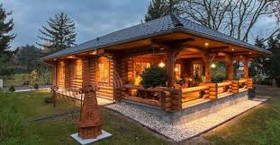 cozy log cabin with floor plan cozy