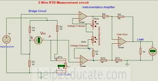 temperature 3 wire rtd meansurement circuit transmitter temperature 3 wire rtd meansurement circuit diagram