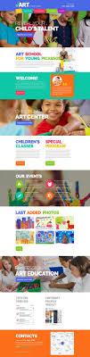 Kids School Website Template Children Art School Website Template