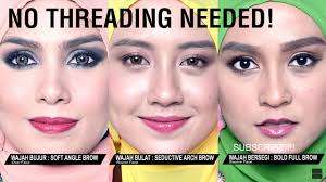 how to get the perfect eyebrows without threading maybelline msia you