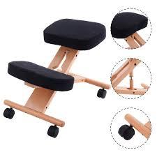 ergonomic kneeling office chairs. Wooden Ergonomic Kneeling Posture Office Chair, Grey - Walmart Chairs |