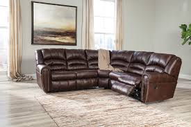 Furniture Wonderful Brown Recliner Sofa By Ashley Furniture