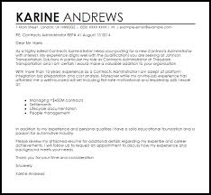 contracts administrator cover letter sample admin cover letter template