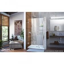 dreamline unidoor 39 to 40 in frameless hinged shower door shdr 20397210s 01