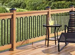 glass barades deck railing decked built lumber dark spindles paint outside groove tongue fencing installer rails traditional rona veranda interior