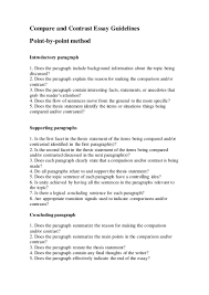topics for comparison and contrast essays chapter comparison  compare and contrast essay guidelines