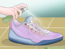 image titled stretch suede shoes step 1