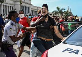 Protests break out across Cuba in rare ...