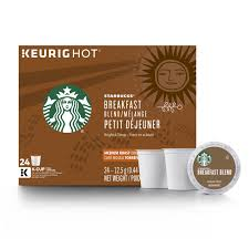 Breakfast blend is a lively and lighter roast with a crisp finish; Starbucks Breakfast Blend Coffee K Cup Pods Medium Roast Coffee Pods For Keurig Brewers 1 Box 24 Pods Buy Online In Gibraltar At Gibraltar Desertcart Com Productid 120372714