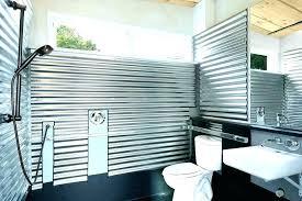 corrugated metal shower bathroom walls diy galvanized interior