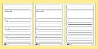 Writing Instructions Template Writing Instructions Primary Resources Page Borders Frames