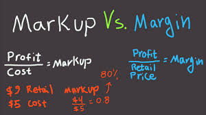 Markup Vs Margin Explained For Beginners Difference Between Margin And Markup