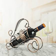 Bar Accessories And Decor Metal Wine Bottle Bracket Holder Decorative Iron Beer Whisky 72