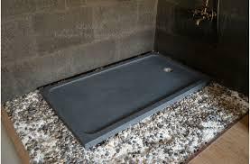 60 x 34 granite shower pan gray bathroom stone quasar
