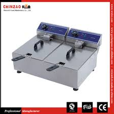 double tank commercial countertop electric deep fryer dzl 20b
