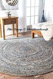 rug premium jute area 3 feet large round braided modern sisal rag circle home decor cotton rugs foot ft circular