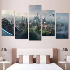 star wars millennium falcon 5 piece canvas panel wall art print ash wall decor  on star wars canvas panel wall art with star wars millennium falcon 5 piece canvas panel wall art print