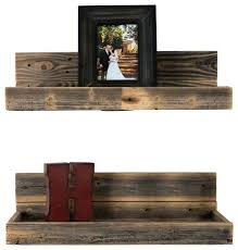 rustic wall shelves reclaimed wood floating shelves set of 2 rustic wall shelves