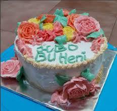 Jual Clover Trend Birthday Cake Rose Birthday Cake Kue Ulang