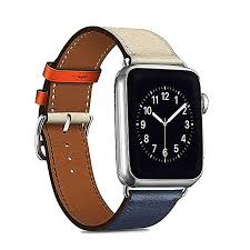 compatible with genuine leather apple watch band single tour replacement iwatch strap apple watch series 4