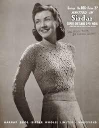 Vintage Knitting Patterns Impressive Classy Free Vintage Knitting Patterns 48s 48u48s Style For You