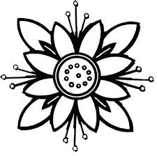 Easy Coloring Pages Of Flowers Flower Printable Coloring Pages Easy