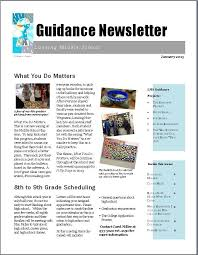 schools newsletter ideas getting the word out newsletters school counseling k 12