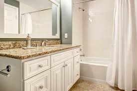 White Bathroom Cabinets Granite Countertops white cabinets with