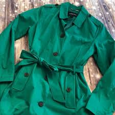 Lands End Jacket Size Chart Lands End Women S Trench Sz Med Kerry Green