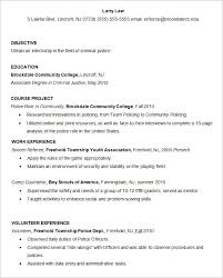 Criminal Justice Resume Extraordinary Resume Templates 44 Free Samples Examples Format Download