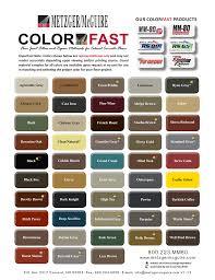 Color Chart Metzger Mcguire