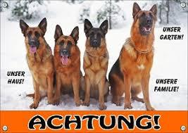 Hundeschild Warnschild Vom Deutschen Schäferhund Für Ihr Gartentor