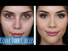 how to cover dark circles and stop